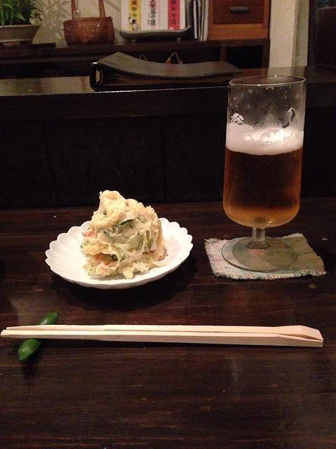ビールとポテサラ.jpg
