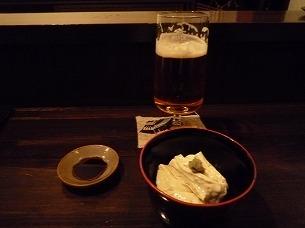 ビールと湯葉刺.jpg