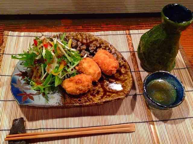 巌と燻製コロッケ.jpg