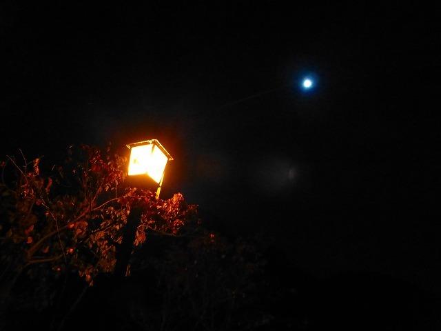 湯の道街灯と月.jpg